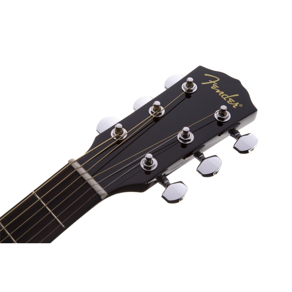 fender cd 60 v3 acoustic guitar black with hardshell case. Black Bedroom Furniture Sets. Home Design Ideas