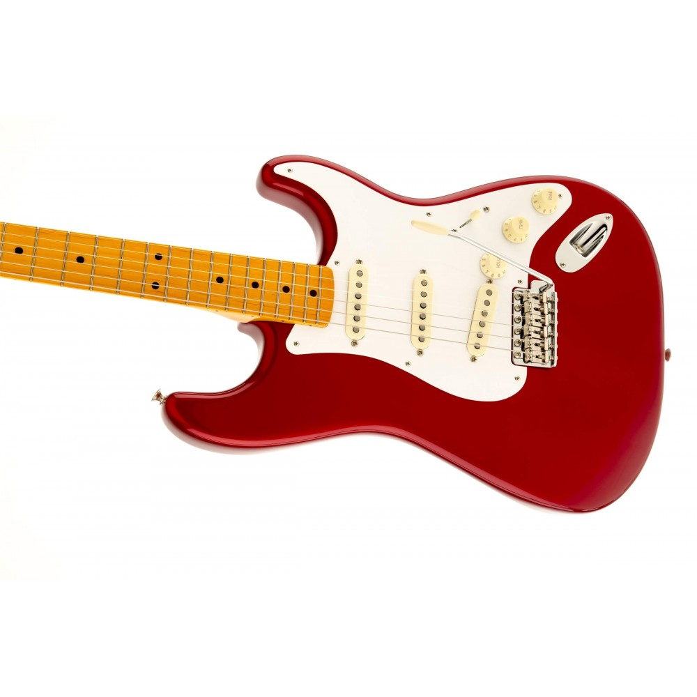 fender 50s stratocaster nitrocellulose laquer finish candy apple red with maple fingerboard. Black Bedroom Furniture Sets. Home Design Ideas