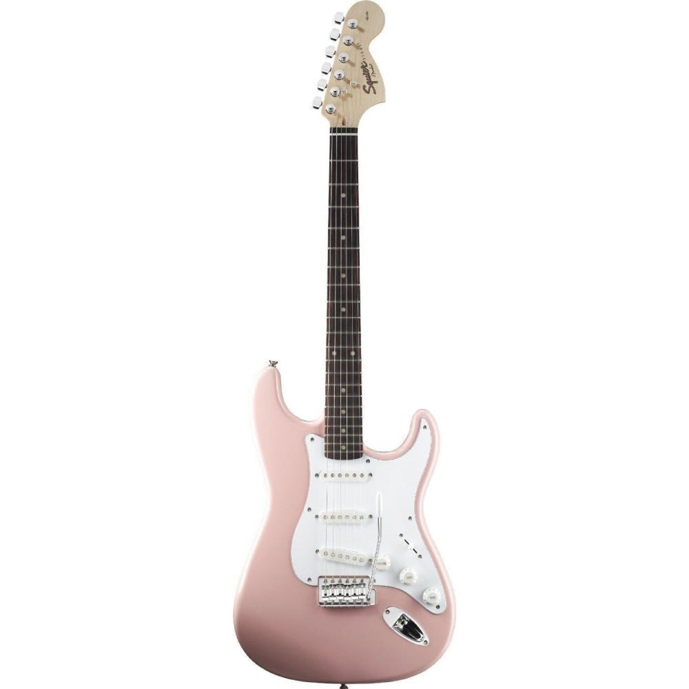 fender squier affinity series stratocaster in shell pink. Black Bedroom Furniture Sets. Home Design Ideas