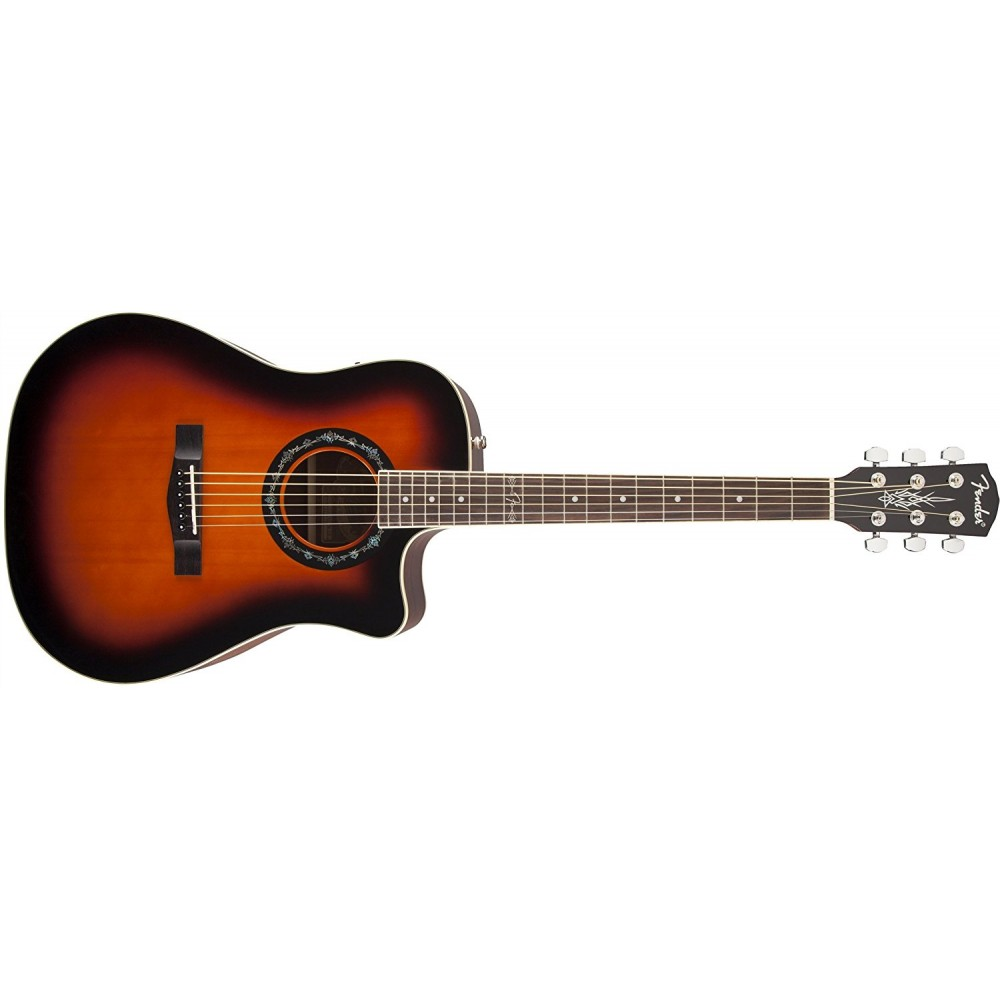 fender t bucket 100ce electric acoustic guitar sunburst. Black Bedroom Furniture Sets. Home Design Ideas