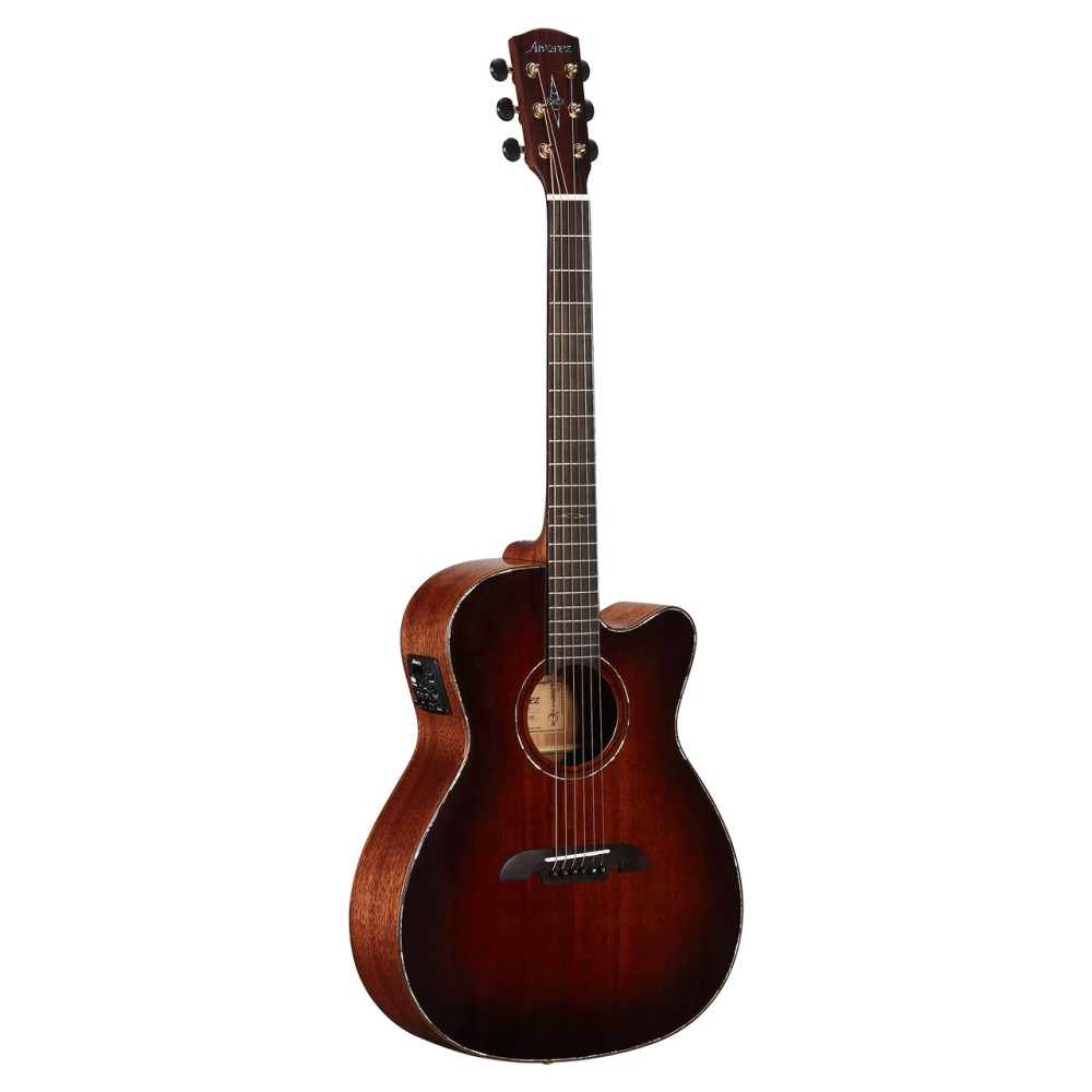alvarez mfa66ceshb acoustic electric guitar in shadowburst with case. Black Bedroom Furniture Sets. Home Design Ideas