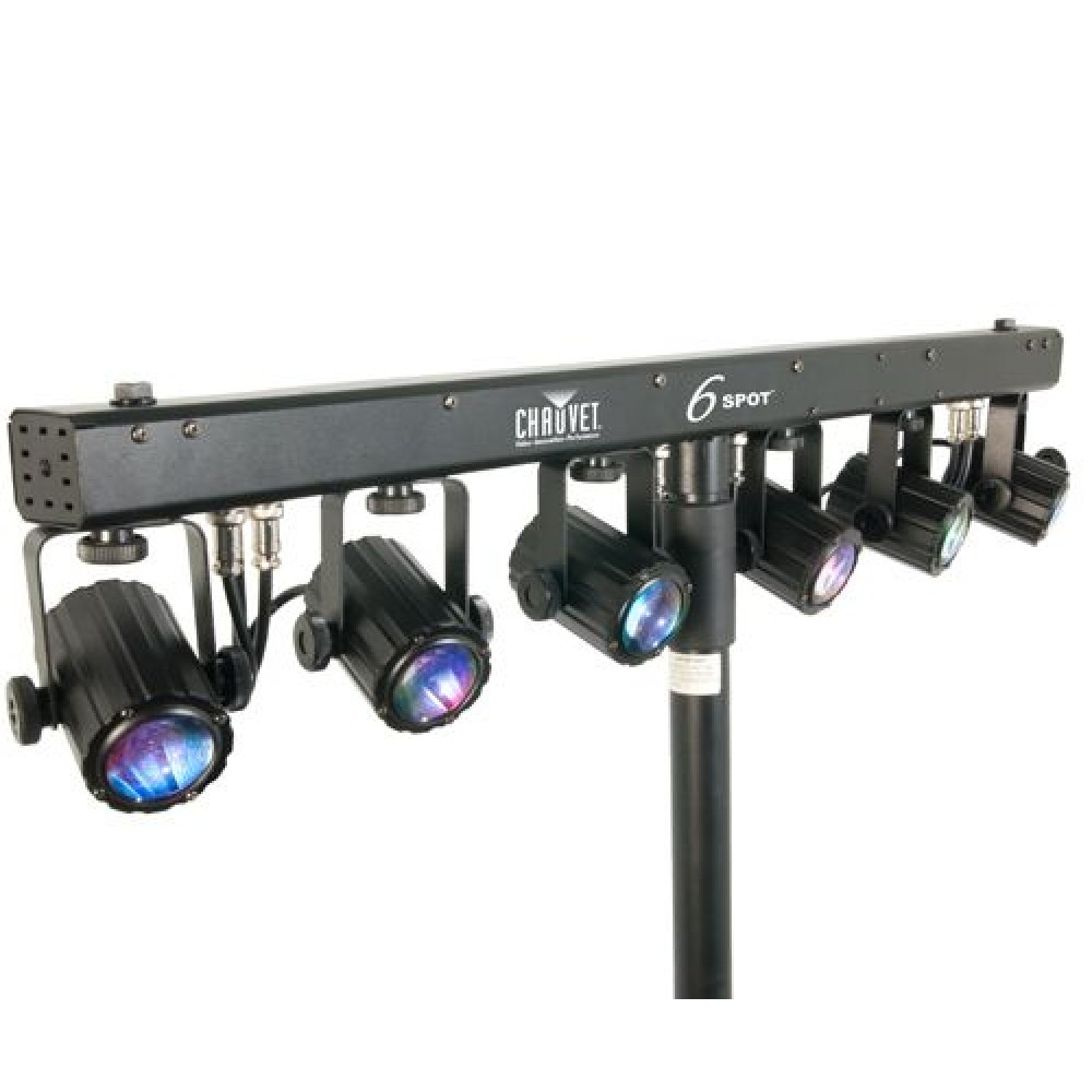 chauvet 6 spot light bar. Black Bedroom Furniture Sets. Home Design Ideas