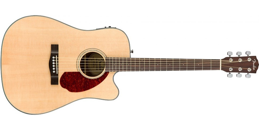 Fender CD140SCE Acoustic Electric Guitar Natural Finish with case