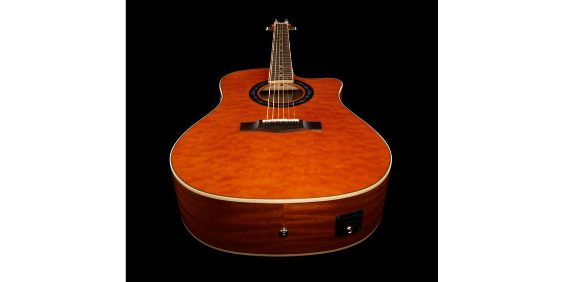 Fender T-Bucket Quilted Maple Top Electric Acoustic Guitar Amber