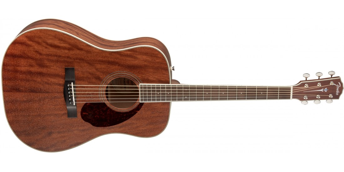 PM-1 Fender Dreadnought All Mahogany Acoustic Guitar  With Case