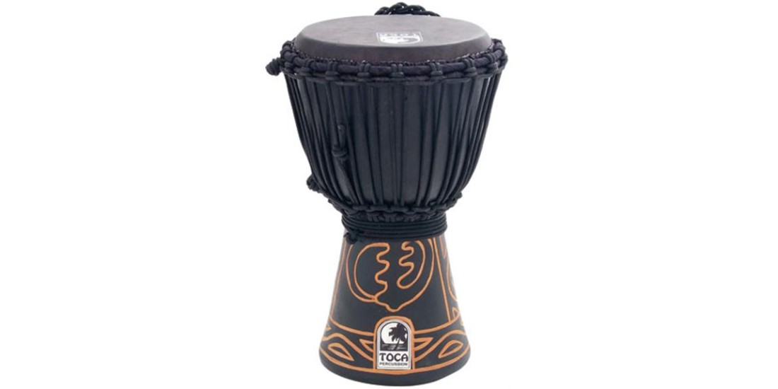 Toca African Black Mamba Djembe Rope Tuned 8 inch with Pro Bag