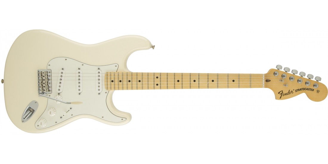 Fender American Special Stratocaster Electric Guitar Maple Fretboard Olympic White with Gigbag