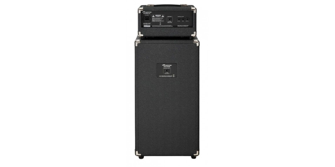 Ampeg Micro-CL Stack 210 Bass Guitar Cabinet and Amplifier Head stack