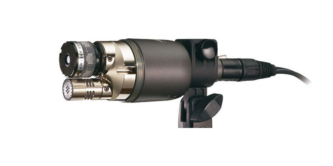 Audio Technica AE2500 Cardioid condenser and dynamic dual-element instrument microphone and Three EXO CM10 Mic Cables