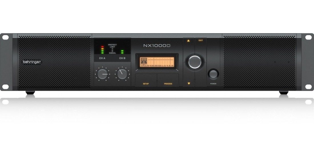 Behringer Ultra Lightweight 1000 Watt Class D Power Amplifier with DSP Control and SmartSense