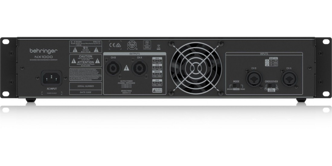 Behringer Ultra Lightweight 1000 Watt Class D Power Amplifier with SmartSense