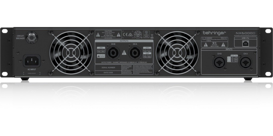 Behringer Ultra Lightweight 6000 Watt Class D Power Amplifier with DSP Control and SmartSense