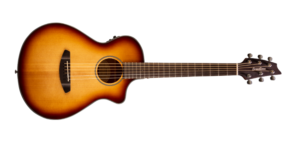 Breedlove Discovery Companion Sunburst Cutaway Acoustic Electric Guitar Sitka-Mahogany