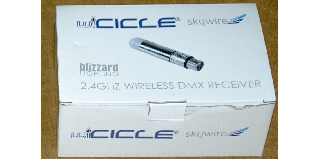 Used - Blizzard Lighting wiCICLE Skywire Wireless DMX Receiver Still In Box