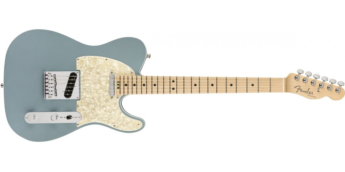 Fender American Elite Telecaster Maple Fingerboard Satin Ice Blue Metallic