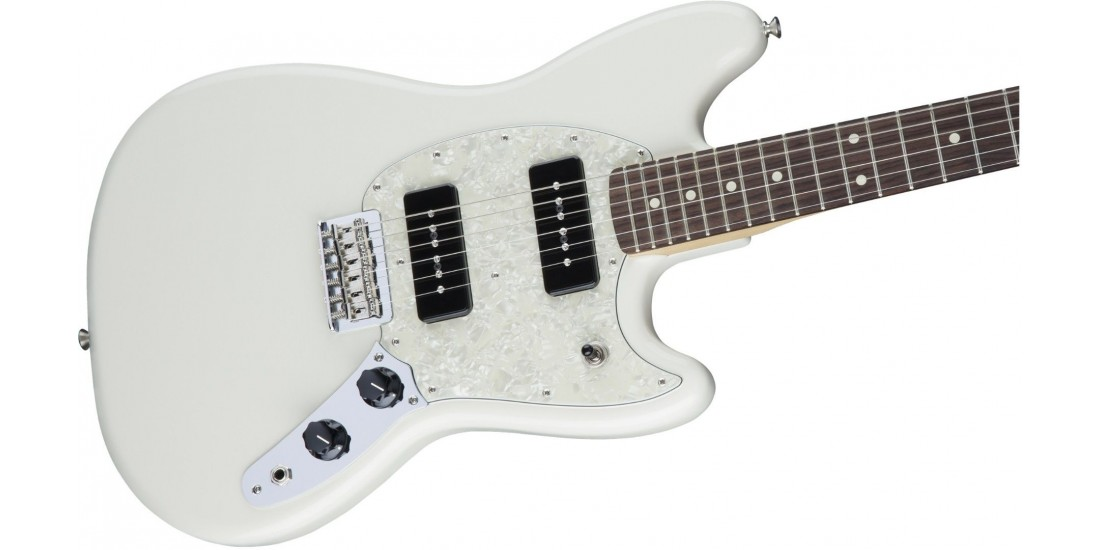 Fender  Mustang  90  Electric  Guitar  Rosewood  Fingerboard  Olympic  White