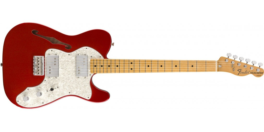 Fender Vintera 70s Telecaster Thinline Maple Fingerboard Candy Apple Red