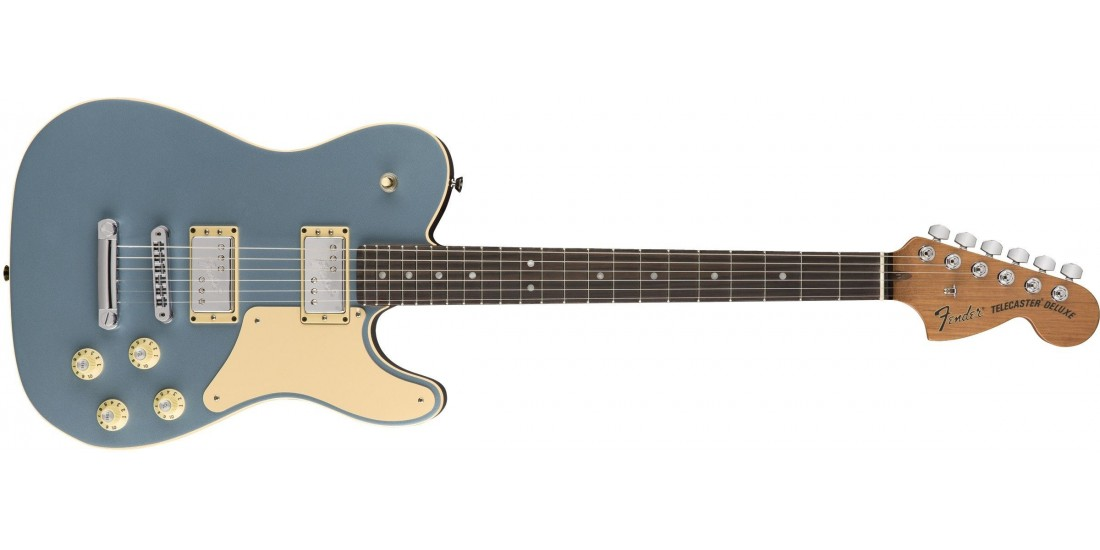 Fender Limited Edition Troublemaker Telecaster Deluxe Rosewood Fingerboard Ice Blue Metallic