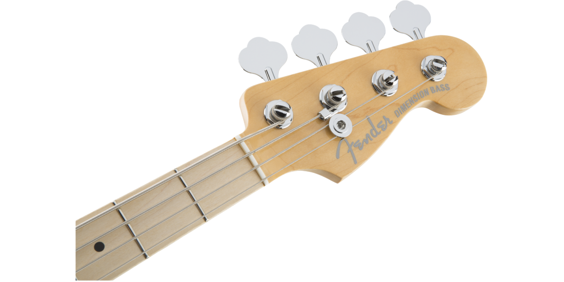 Open Box - Fender American Elite Dimension Bass IV Humbucking Pick Ups Maple Fingerboard Natural