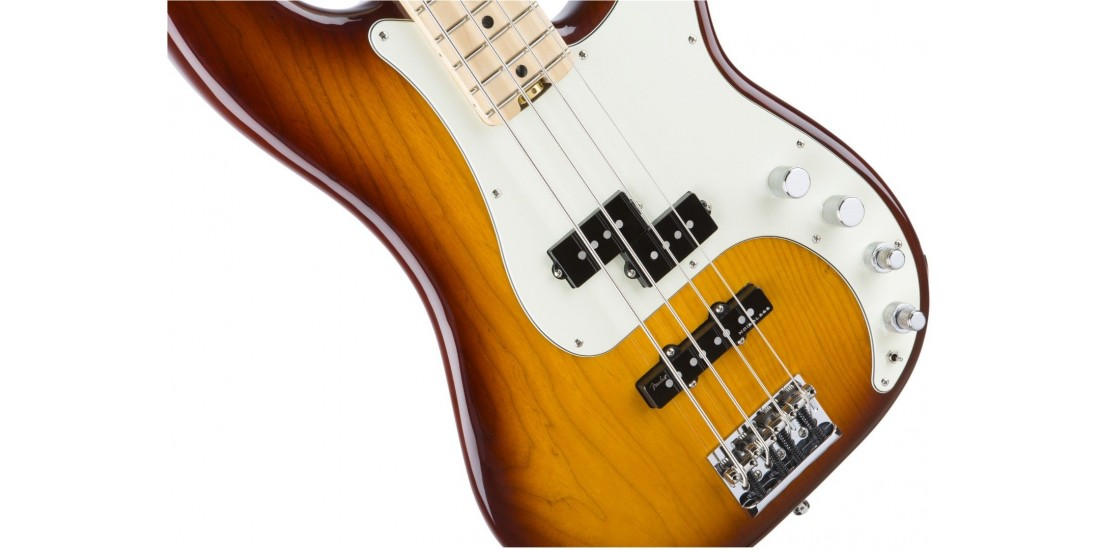 Fender American Elite Precision Bass Ash Maple Fingerboard Tobacco Burst
