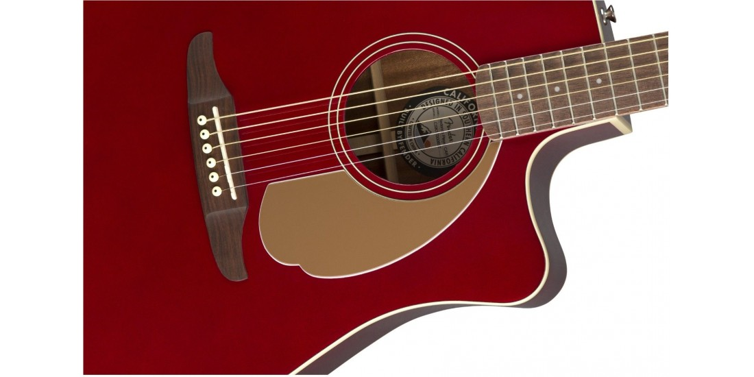 Fender Redondo Player Electric Acoustic Candy Apple Red Guitar with Walnut Fretboard