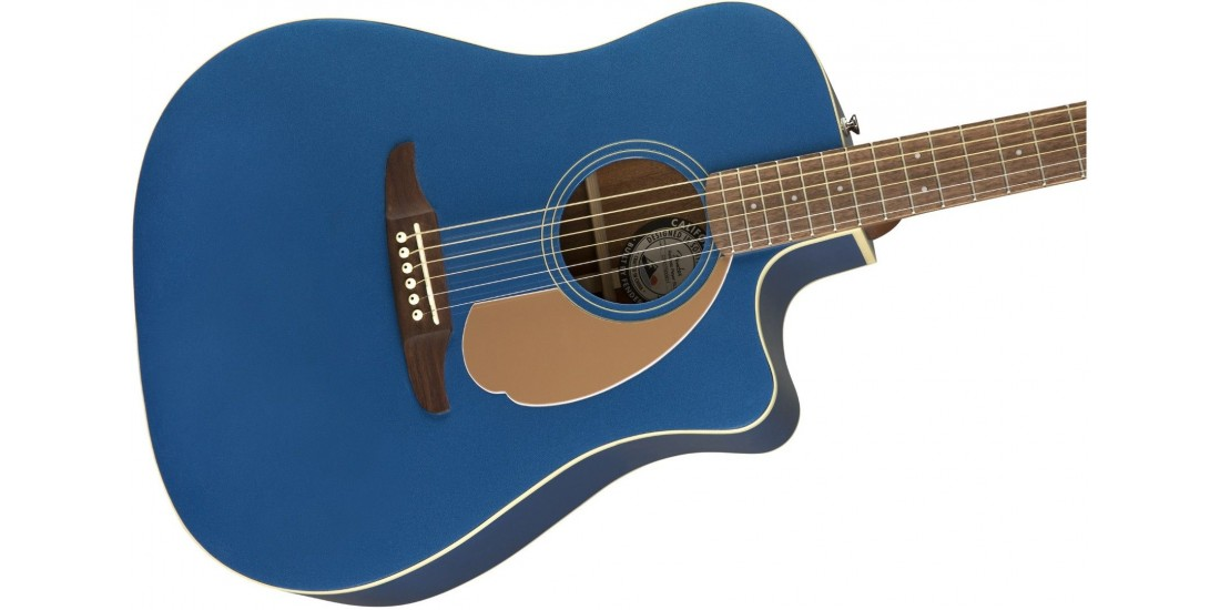 Fender Redondo Player Electric Acoustic Belmont Blue Guitar with Walnut Fretboard