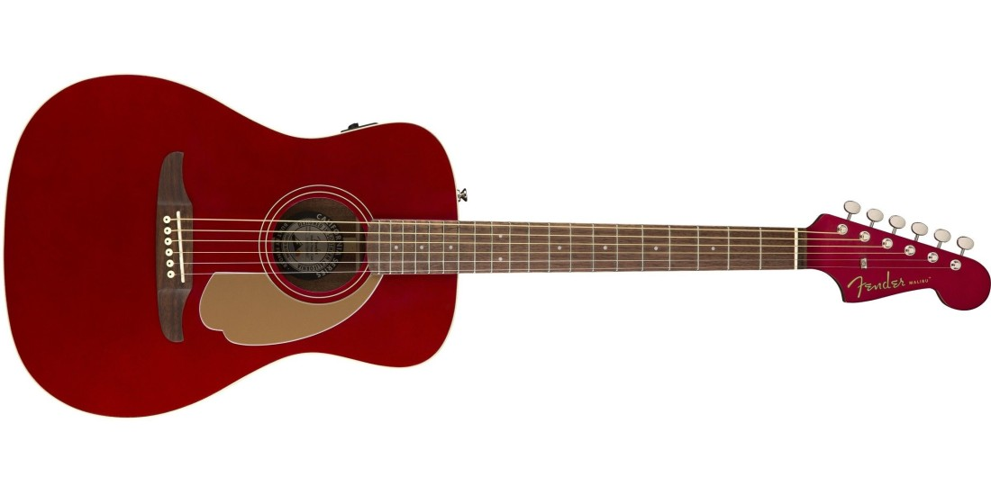 Fender Malibu Player Solid Spruce Top Mahogany Back and Sides in Candy Apple Red