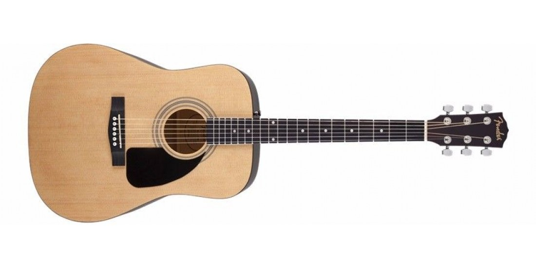 Fender FA-100 Pack Dreadnought Acoustic Guitar Spruce Top Gig Bag