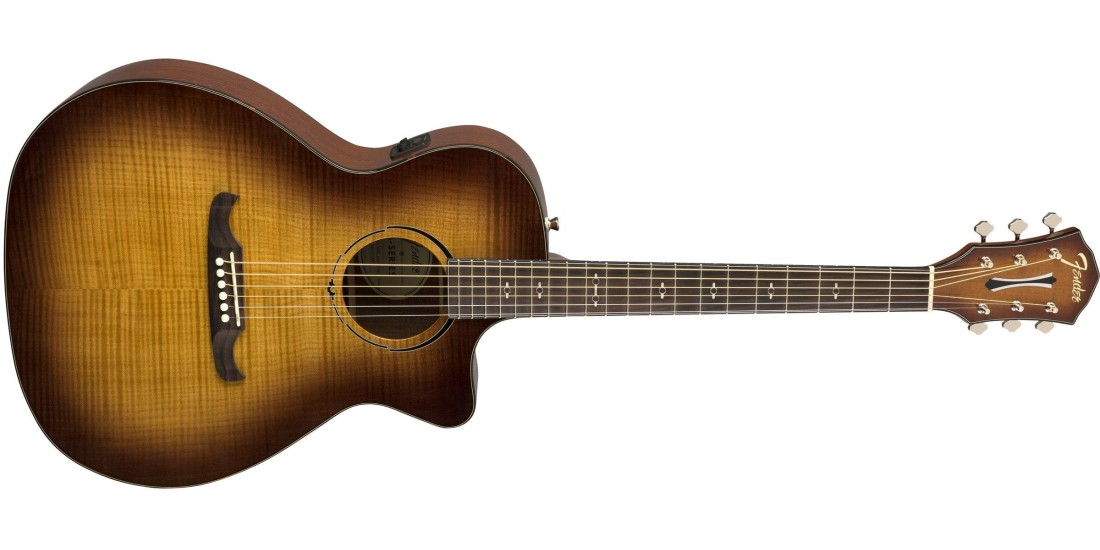 Fender FA-345CE Auditorium in Tea Burst with Laurel Fretboard