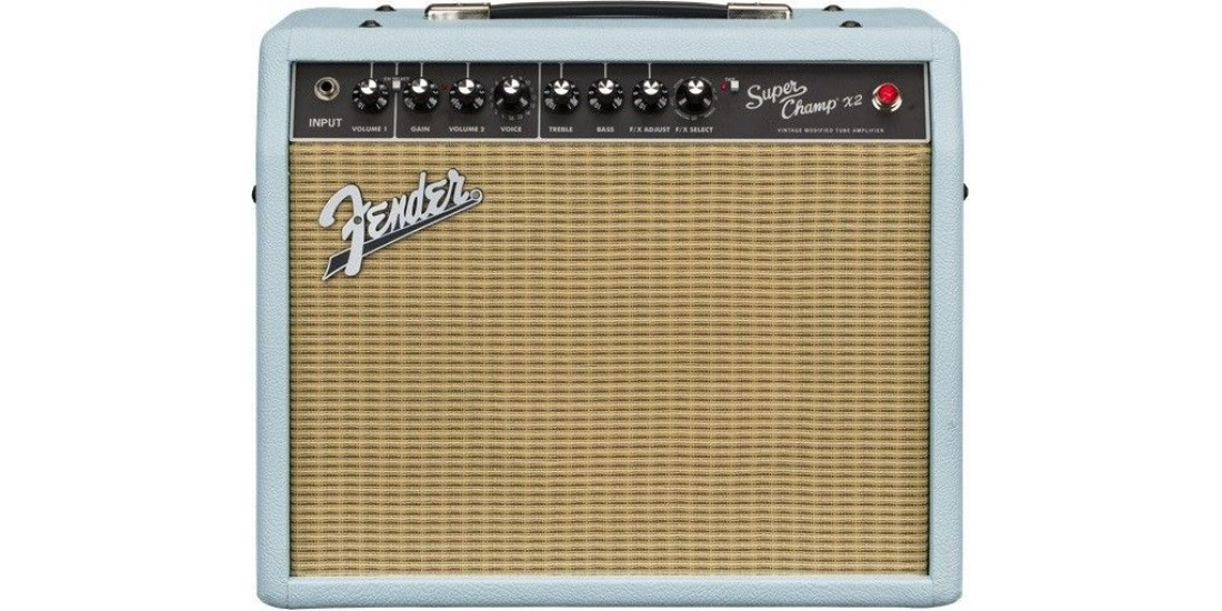 Fender Super Champ X2 Limited Edition Ragin Cagin 120v Sonic Blue 6V6
