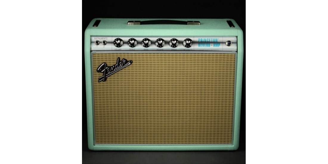Fender 68 Custom Princeton Reverb Electric Guitar Amplifier Surf Green FSR2019