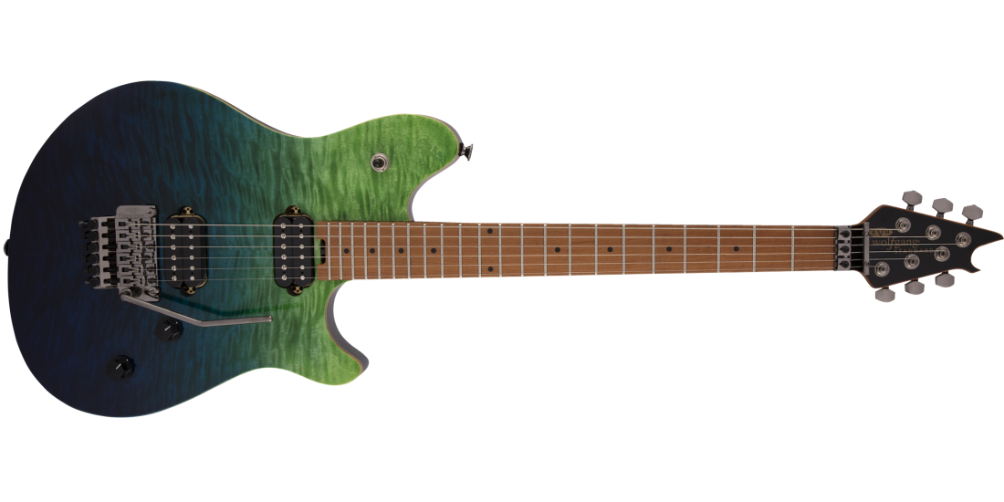 EVH Wolfgang Standard Quilted Maple Baked Maple Fingerboard Tahiti Night
