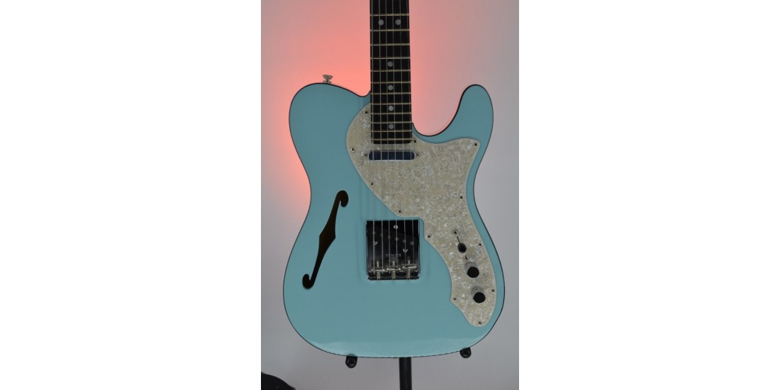 FSR Two-Tone Telecaster Thinline Electric Guitar Daphne Blue Serial #US19083427 6.25lbs