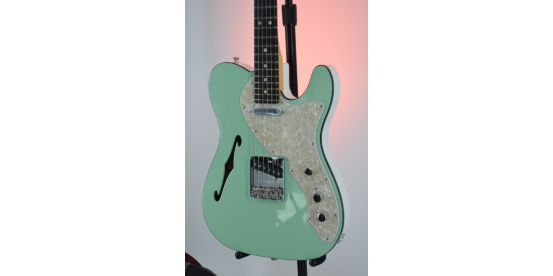 FSR Two-Tone Telecaster Thinline Electric Guitar Sea Foam Green Serial #US19095724 6.15lbs