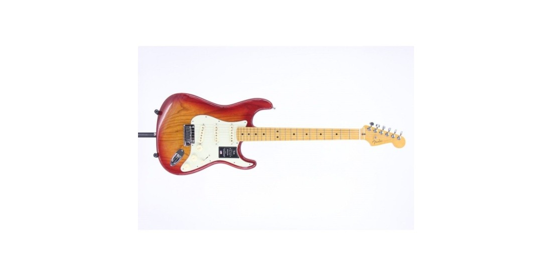 Fender American Ultra Stratocaster Maple FB Plasma Red Burst Serial# US19080042 8.6 lbs