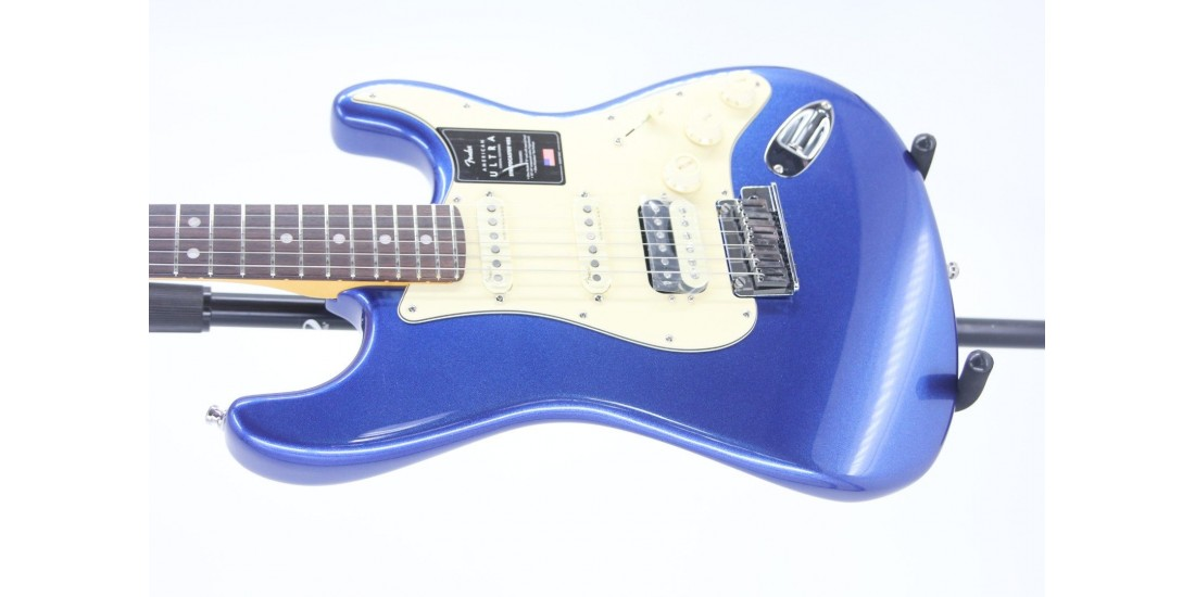 Fender American Ultra HSS Stratocaster Rosewood FB Cobra Blue Serial# US19072748 8.1lbs