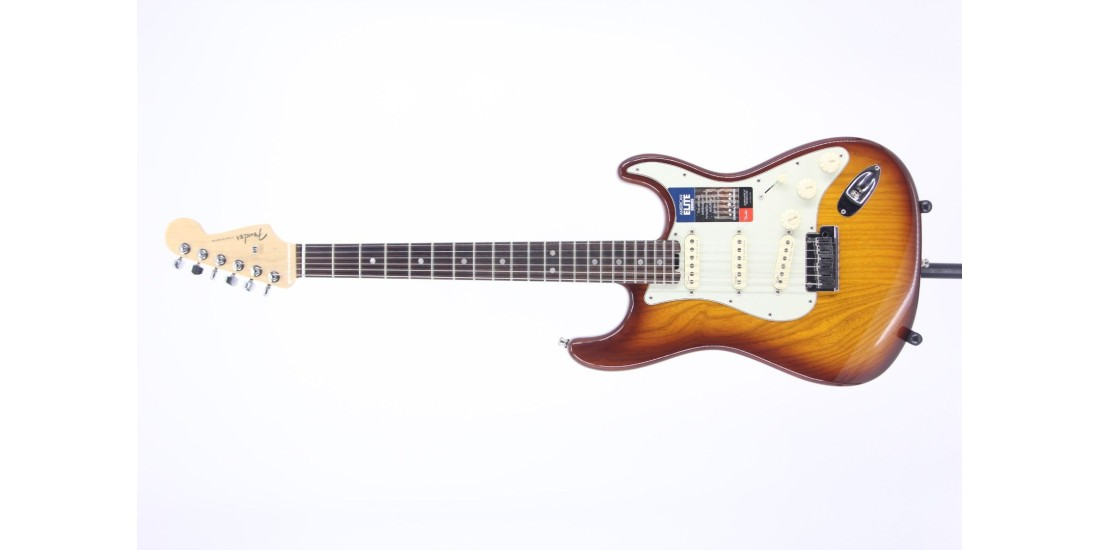 Fender American Elite Stratocaster Rosewood FB Tobacco Sunburst Serial# US16065566 8.05lbs