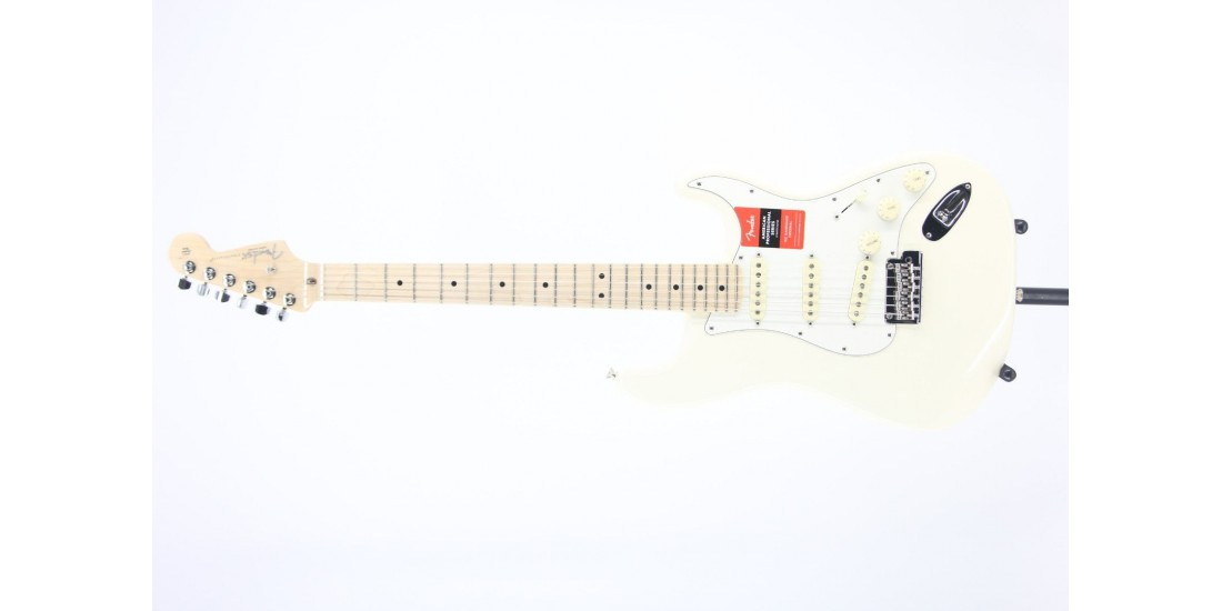 Fender American Professional Stratocaster Maple FB Olympic White Serial#US19060727 7.85lbs