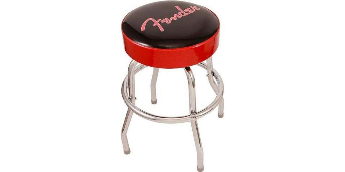 Fender Black and Red 24 Inch Bar Stool