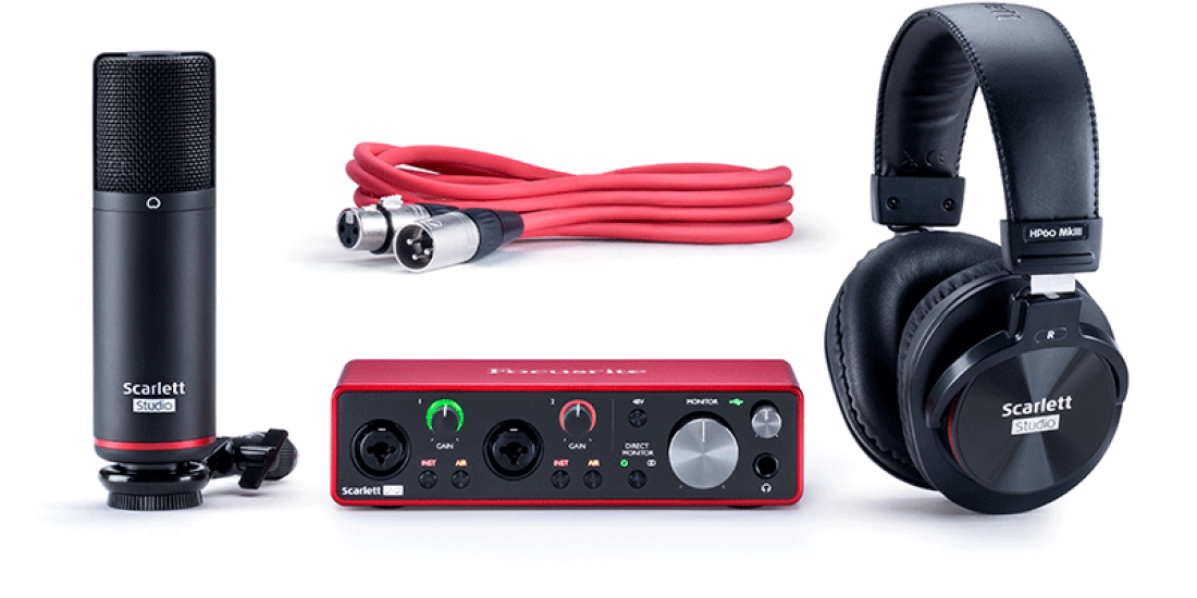 Focusrite Home USA - Scarlett 2i2 Studio 3G  Digital interface with included mic and headphones