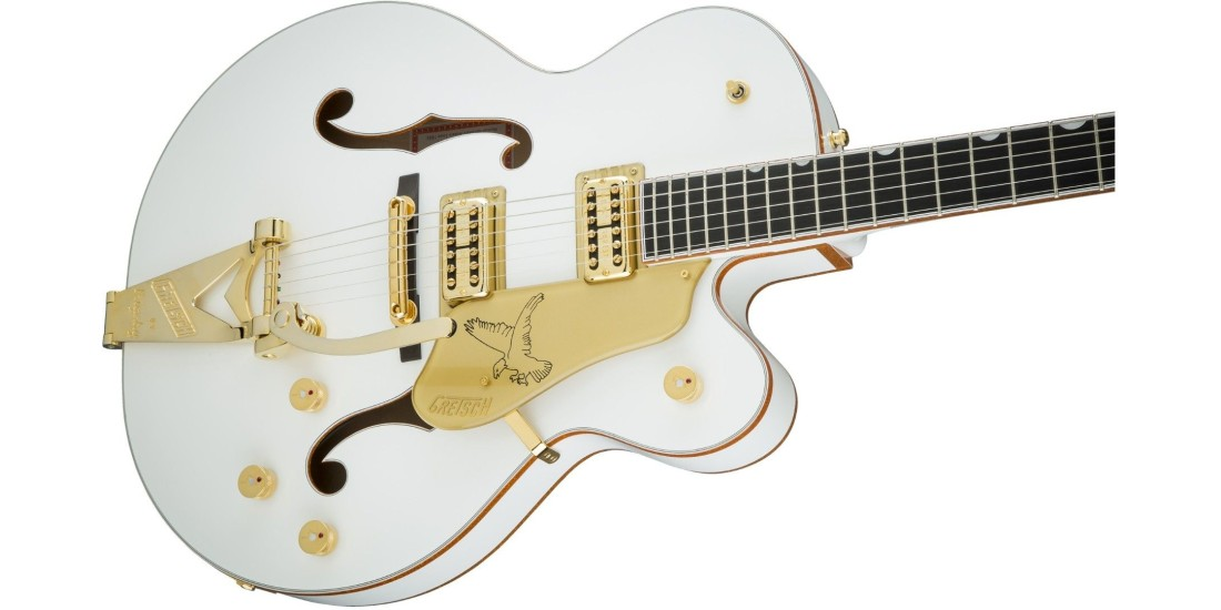 Gretsch G6136T-WHT Players Edition Falcon with String-Thru Bigsby Filter'Tron Pickups White