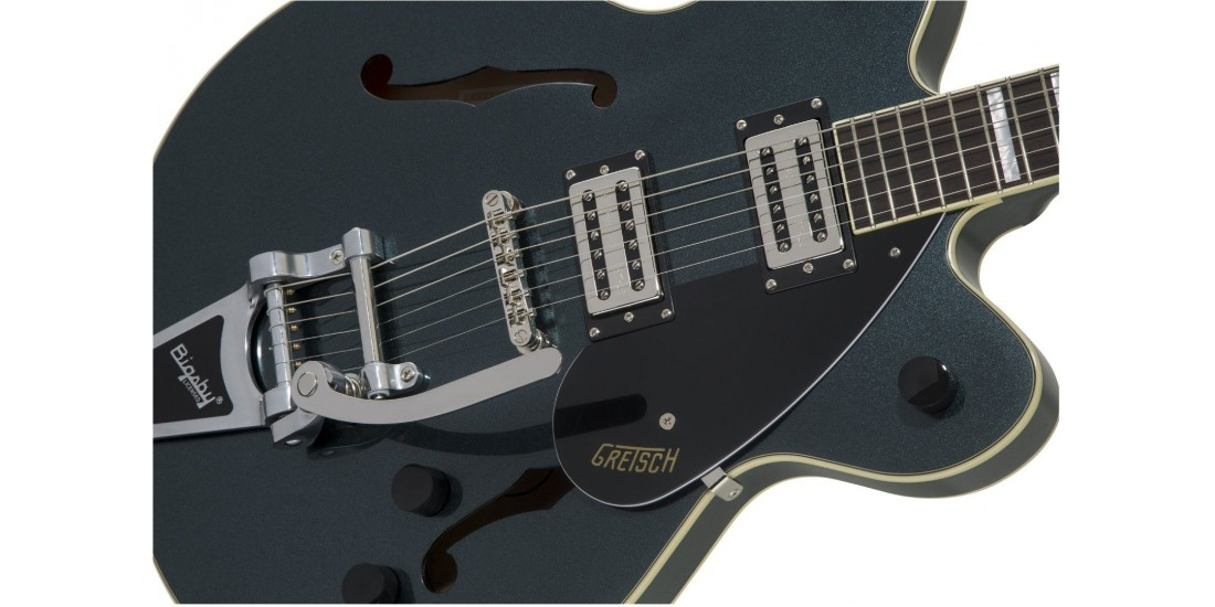 Gretsch G2622T Streamliner Center Block Broadtron 2nd Gen Pickups Electric Guitar Gunmetal with Bigsby