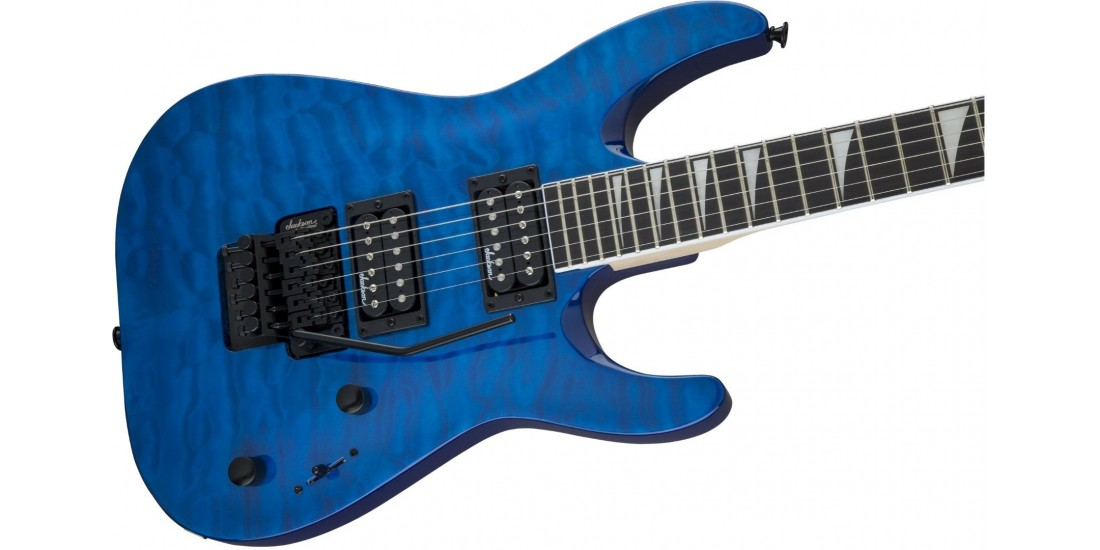 Jackson JS Series Dinky Arch Top JS32Q DKA Amaranth Fingerboard Transparent Blue