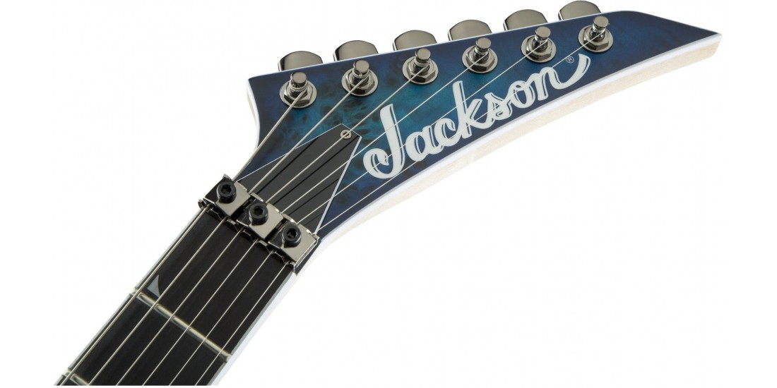 Open Box - Jackson Pro Series Soloist SL2P MAH Mahogany Body with Poplar Burl Top Ebony Fingerboard Aqua Shok