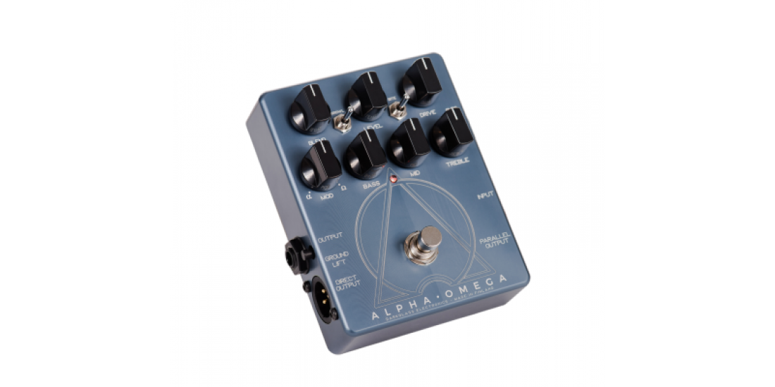 Darkglass Alpha Omega bass preamp pedal and DI box with saturation circuit