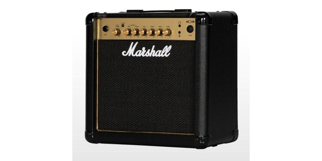 Marshall MG15GR 15 Watts Guitar Combo Amplifier with 2 channels reverb