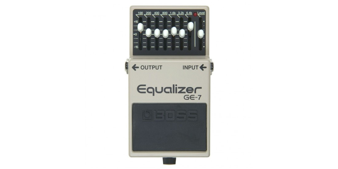 Boss GE7 7 Band Graphic Equalizer Guitar Pedal with Three EXO CG10 Guitar Cables