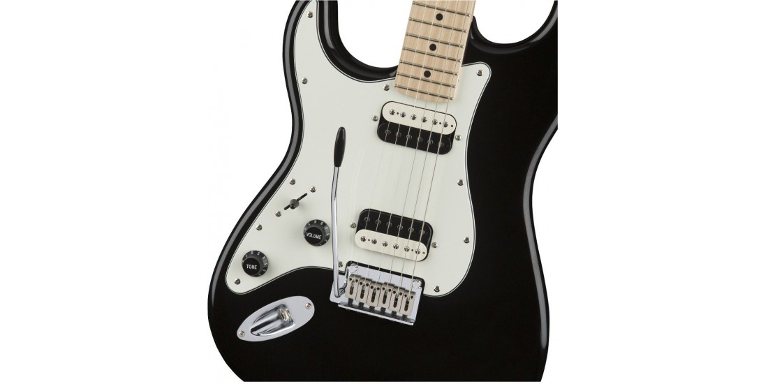 Fender Squier Contemporary Stratocaster HH Left Handed Maple Fingerboard Black Metallic