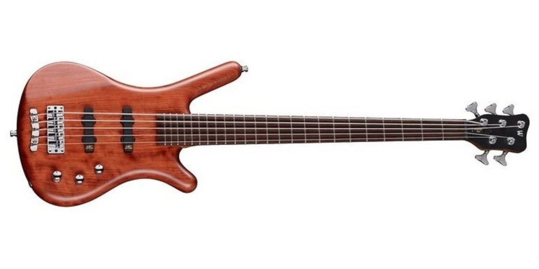 Warwick Corvette 5 String Bass Guitar Bubinga Natural Satin Finish