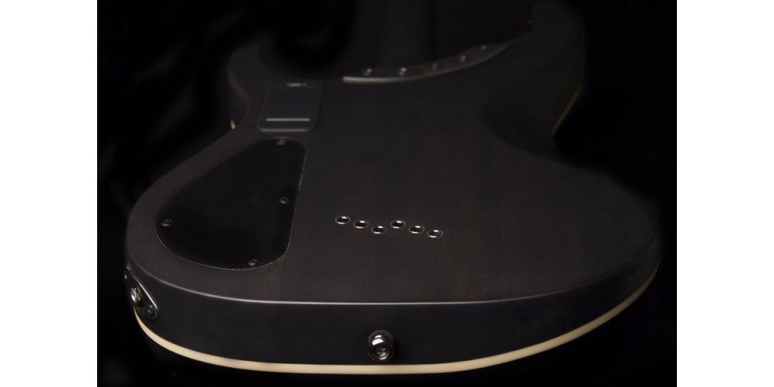 Washburn PXS10EDLXTBM-U Electric Guitar Trans Black Matte